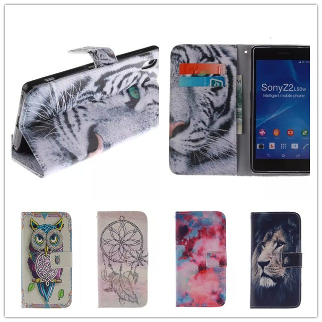 Cartoon Tiger Flip Wallet PU Leather Case Cover Sony Xperia Z2 C770x D6502 D650 D6503 Phone stand Card Holder - Shenzhen SmallTimes Store store