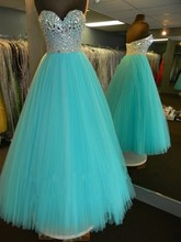 Sparkly Long Dresses Evening A-Line Tulle Beading Sweetheart Sleeveless Floor-Length Long Party Dresses Sexy vestidos de noche