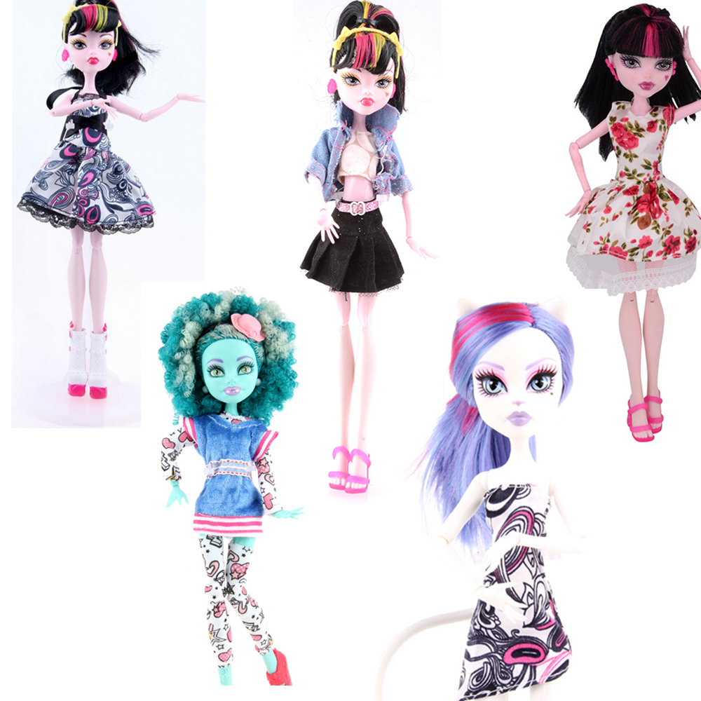 NK  5 units Scorching Sale Magnificence Garments Costume Outfit Put on Shirt Trousers Shorts Pants Skirt for Unique Monster Hight Doll Latest