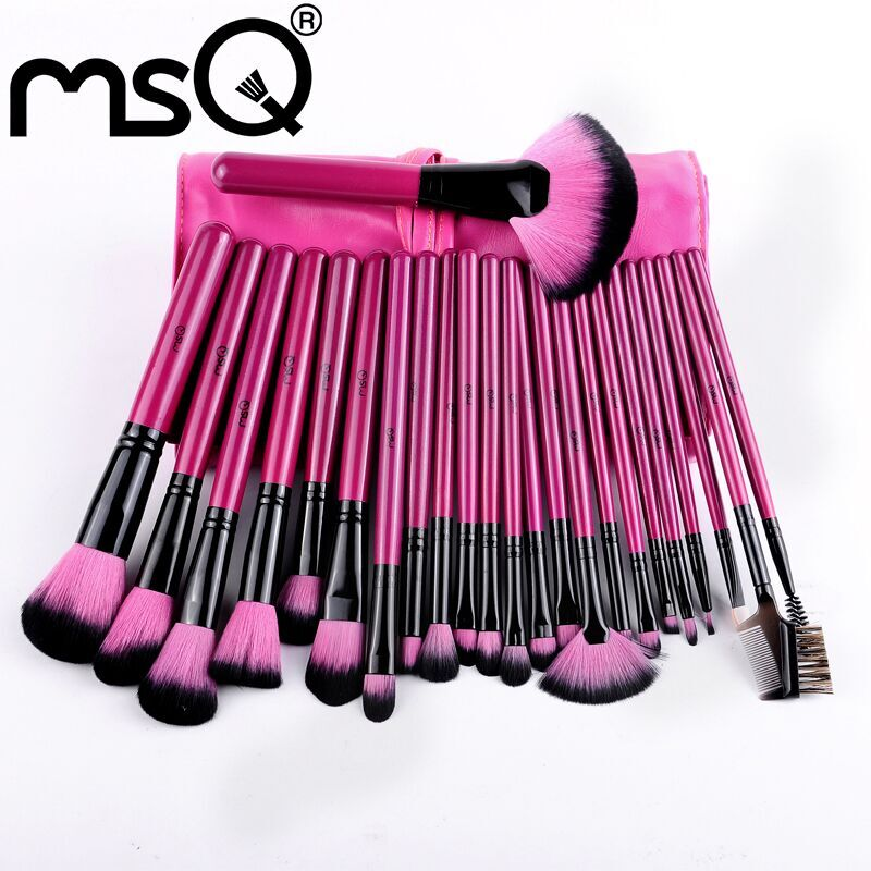 5Sets/Lot Top Quality Synthetic Hair Cheap Cosmetic Tools 24 Pcs Professional Makeup Brush Set<br><br>Aliexpress