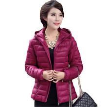 Women Winter Jacket 2016 Casual Plus Size 5XL Cotton Coat Female Hooded Short Thin Women Wadded Jacket 5 Color LJ3698