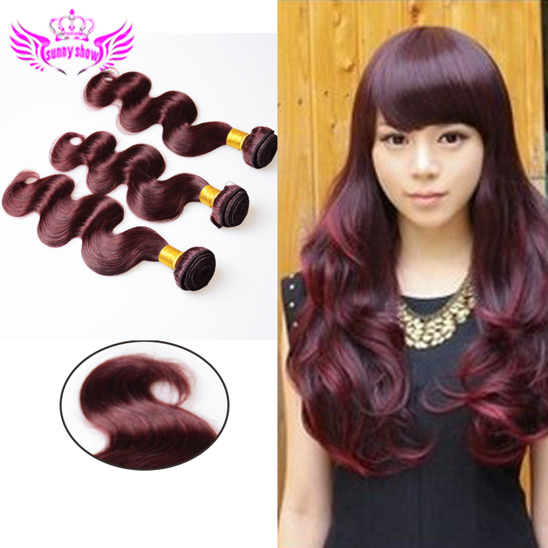 Rosa Hair Products Malaysian Body Wave 3pcs 7A Unprocessed Malaysian Virgin Hair 100% Human Hair Weave Wine Red Malaysian Hair
