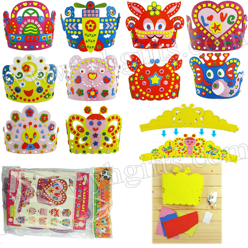 10pcs lot handmade animal crown craft kits kids hat