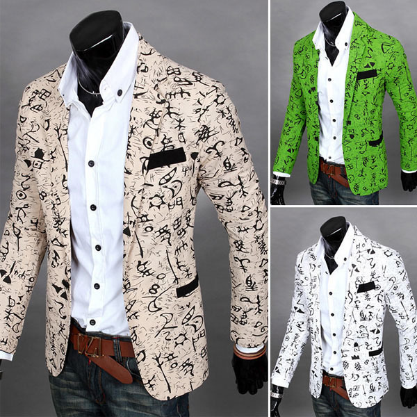 Мужской блейзер Unbrand Slim Fit Casual Suit мужской блейзер brand new m 3xl slim fit men casual blazers
