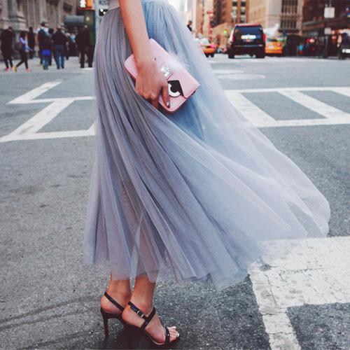 2016 новый юбки Летом Стиль Высокой Талии Юбки Женщин принцесса Пушистый Плиссе Тюль Юбки Женщины Бальное платье Юбка 5830 25