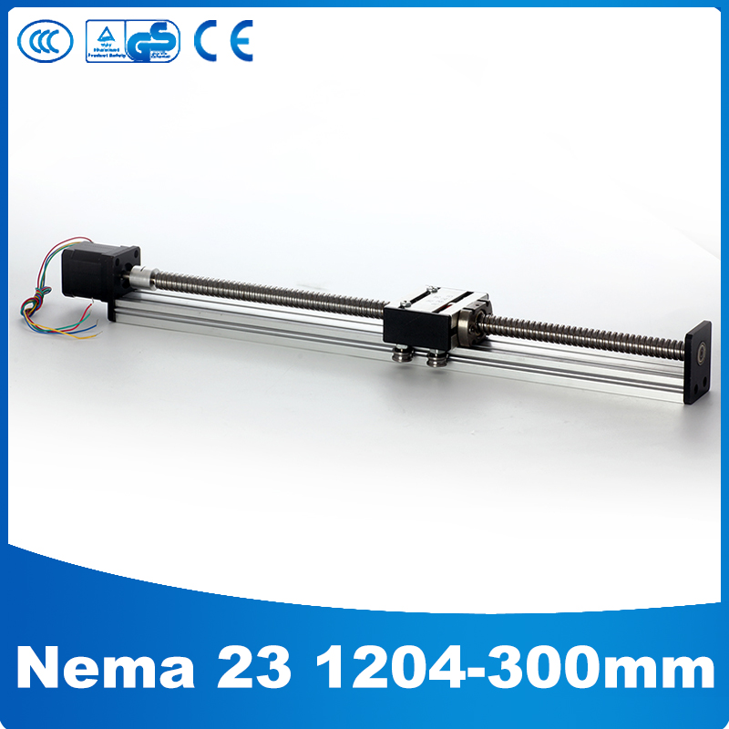 1204 slide rail ball bearing linear rails and slides linear drive effective stroke 300mm(China (Mainland))