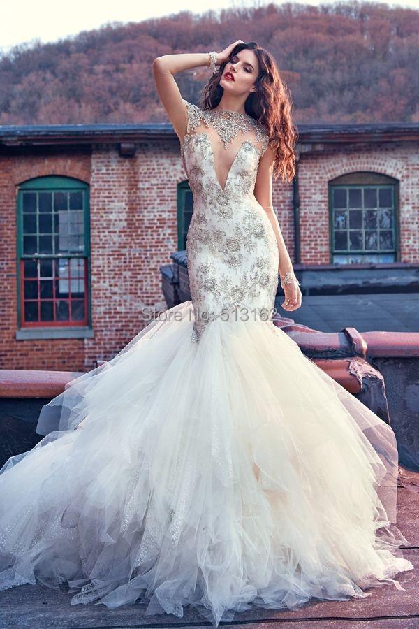 Bling Mermaid Wedding Dress. bling tulle mermaid wedding dresses ...