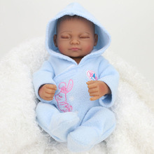 "Buy 10"" Boneca Bebe Reborn Doll Full Vinyl Doll Baby Silicone Baby Toys Newborn Lifelike Baby Toys Silicone Reborn Dolls Sale"