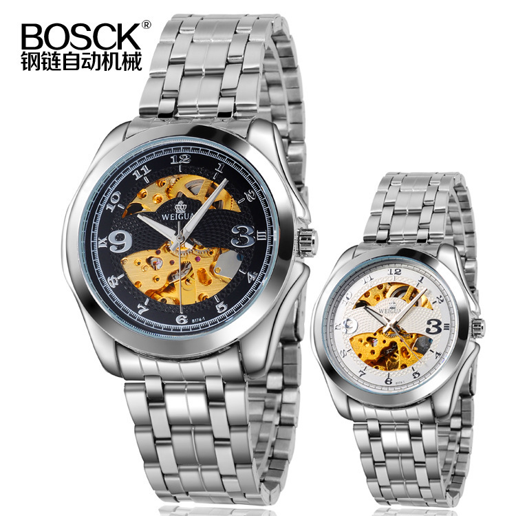 BOSCK Bai poem hollow stainless steel watches Men customized gifts foreign trade table 8174(China (Mainland))