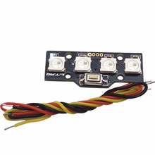 Hot Lantian WS2812B RGB5050 4 Bit LED For FPV Naze32 CC3D Flight Controller Build-in Colorful Driver For RC Drone Spare Parts