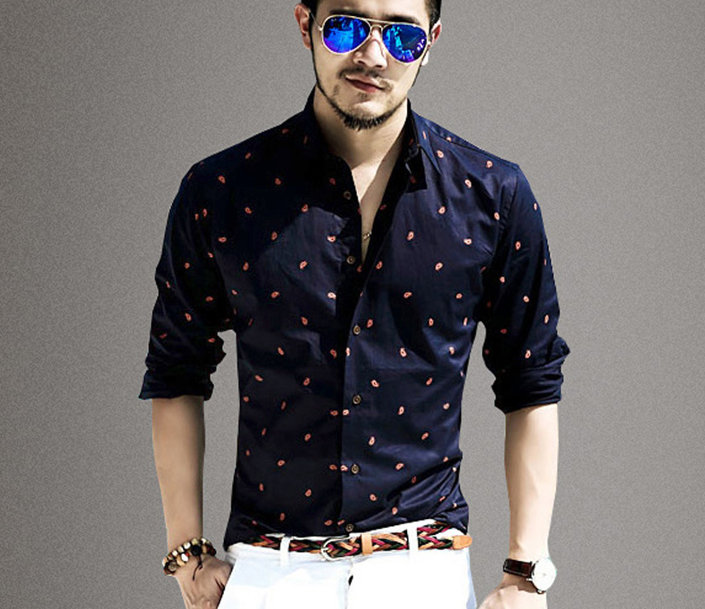 Online buy wholesale trendy dress shirts from china trendy for Mens printed long sleeve shirts