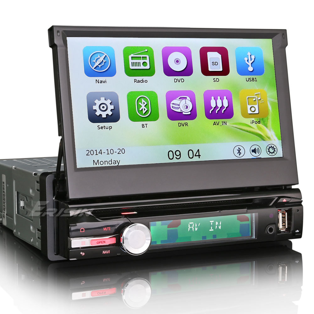 """7"""" Touch Screen 1 Din Car DVD Single Din Car Radio One Din Car GPS with Detachable Panel & Dual Core 800MHz CPU & 256MB RAM(China (Mainland))"""