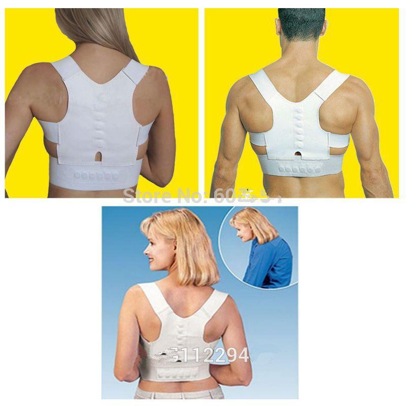 Adjustable Posture Corrector Belt Magnetic Posture Support Shoulder Body Back Brace& Supports For Men Women(China (Mainland))