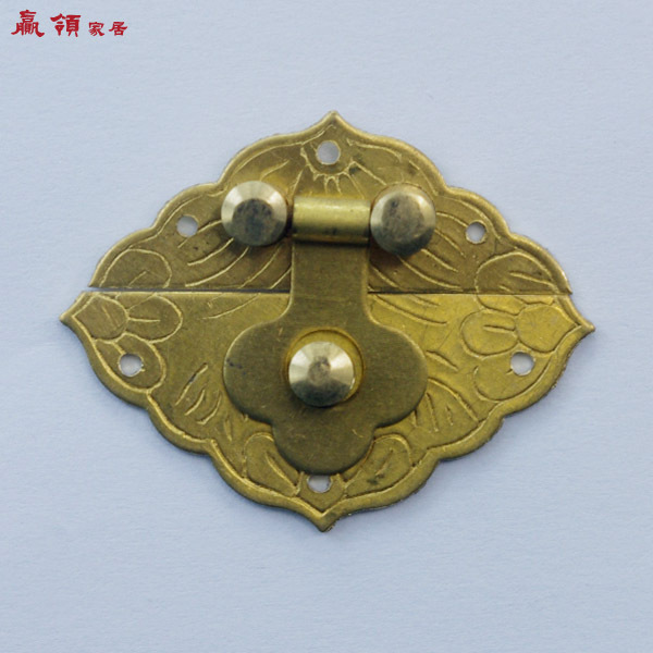 Chinese antique copper collar home win beauty case mini box special box clasp lock hasp YLJD001 4cm(China (Mainland))