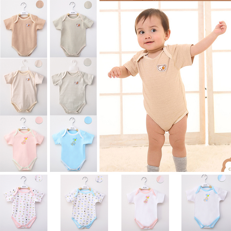 Wholesale 2 pieces No staining Organic Cotton Baby clothes Ropa bebe Newborn outfit Climb clothes Baby Rompers 0-12 months(Hong Kong)