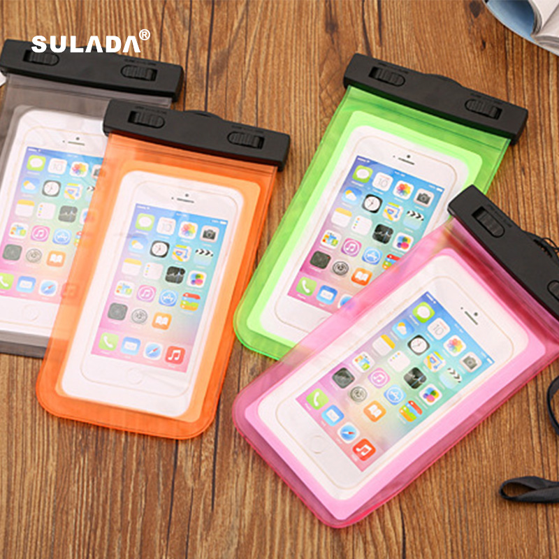 6'' Universal Waterproof Mobile Phone Bag Case Clear PVC Sealed Underwater Cell Smart Phone Dry Pouch Cover Swimming Diving WB03(China (Mainland))