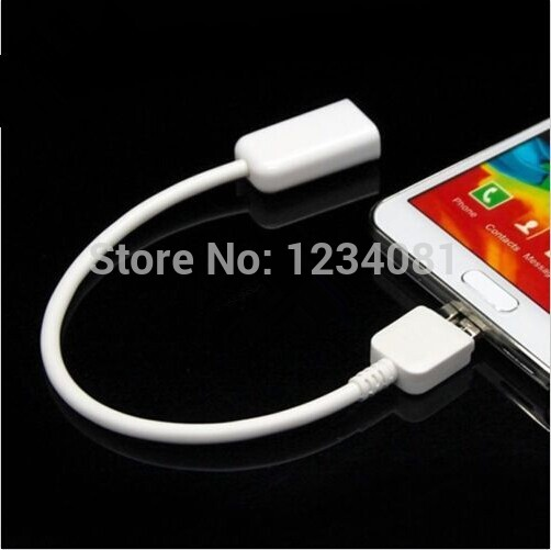 OTG USB 3.0 Host Adapter Flash Disk Cable Cord for Samsung Galaxy Note 3 N9000 N9005(China (Mainland))
