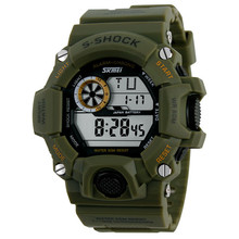 Hombres digitales de vestir reloj impermeable exterior hombres LED Digital reloj cronógrafo deporte reloj de buceo de natación