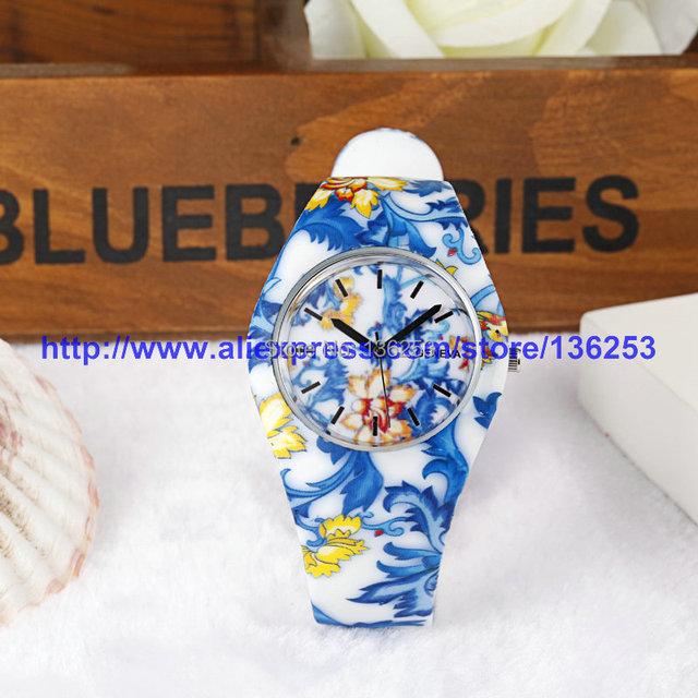 Wholesale 200pcs/lot 10colors Silicone Party Dress Bracelet Watches Woman Ladies Men Sports Watch GENEVA Unisex Quartz Watches