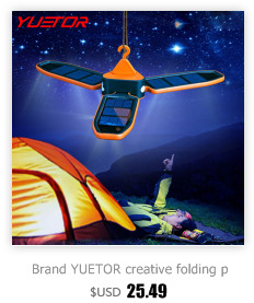 Brand YUETOR 3 in 1 led rechargeable camping lantern multifunction tent portable lanterns abs solar lantern for camping light
