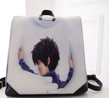 The new 2015 cartoon white spray package leisure wind travel backpack backpack bag college students (China (Mainland))