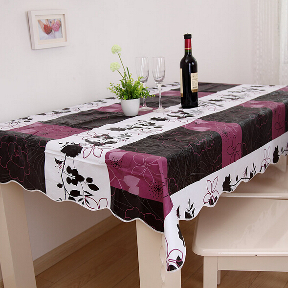 152 203cm pvc table cloth plastic waterproof oilproof