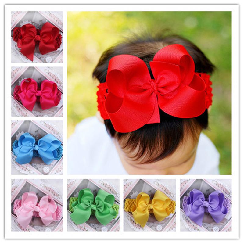 10pcs/lot new 2014 Headwear Hair Accessories big Ribbon Bow Headbands elastics for hair styling tools jewelry sets 042(China (Mainland))
