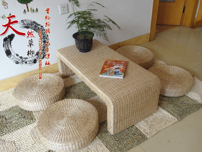 Shipping straw tatami coffee table bay window bay window desk chair combination IKEA pastoral simplicity windowsill kang table d(China (Mainland))