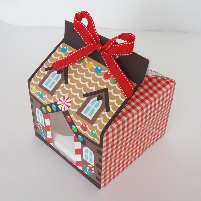 Wholesale Christmas House Candy Box/ 4 Hole Cake Packaging