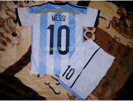 MESSI kids jersey 2014 world cup argentina kids home soccer jereys boys soccer uniforms top quality shirts age 2-12 years(China (Mainland))