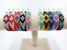 Buy AMIU Handmade Friendship Evil Eye Bracelet Hippy Vintage Seed Beads Rope String Colorful Women Men Beads Jewelry Making for $1.29 in AliExpress store