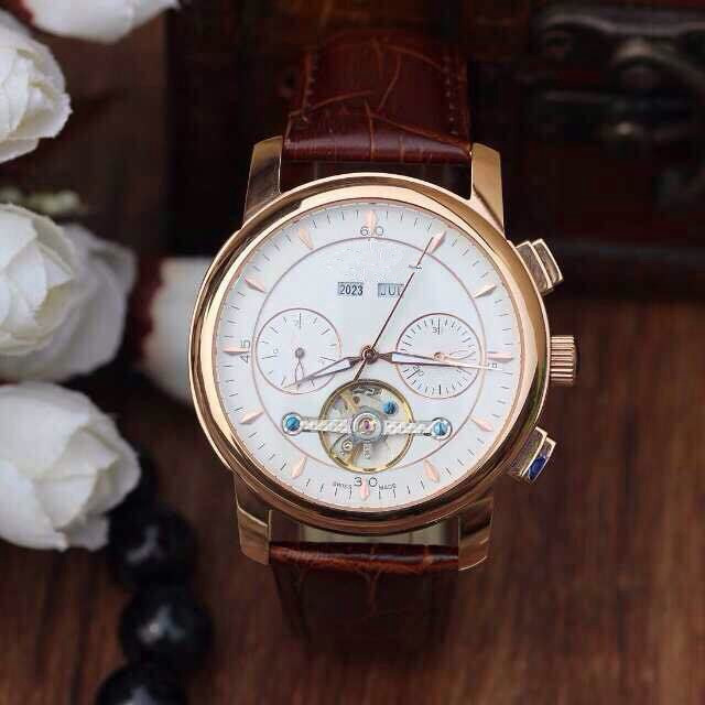 Mechanical watch for men! High grade rose gold color, year month week calendar muti function design, highlights in the design,(China (Mainland))