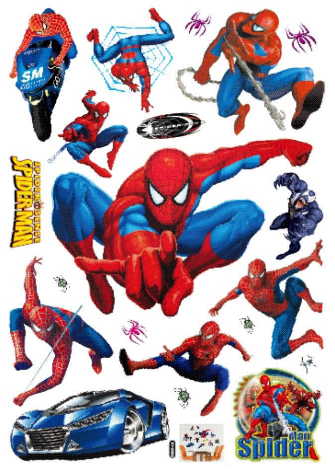 Buy large size spider man wall sticker spiderman adhesive hero decal marvel - Marvel comics decor ...