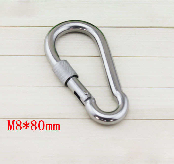 Metric M8*80mm Stainless Steel Quick Link ,Snap Hook,Spring Hook ,Screw Lock(China (Mainland))
