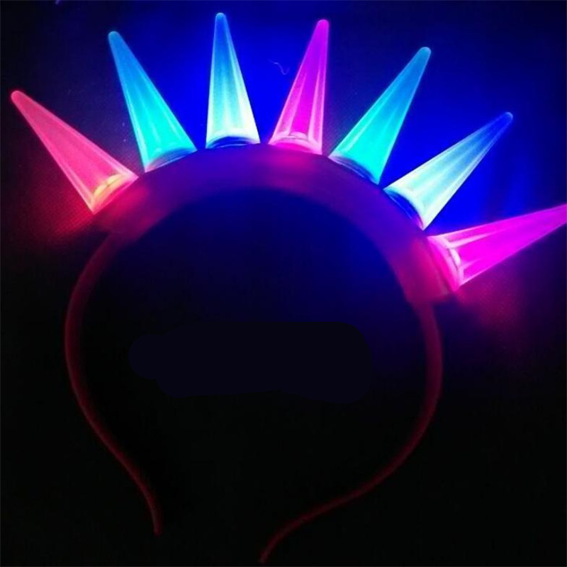 20pcst/lot Hot sale LED Environmental protection multicolor headband hairband toy flashing light up birthday Party decoration<br><br>Aliexpress