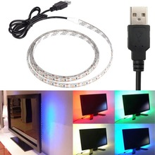 USB Power Supply LED Strip 3528 50/100/200/500cm nowaterproof Tape DC 5V TV Background Lighting DIY Decorative Lamp(China (Mainland))