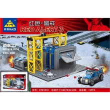 KaZi 81010 Red Alert 3 war factory small particles assembled toy building blocks 678PCS(China (Mainland))