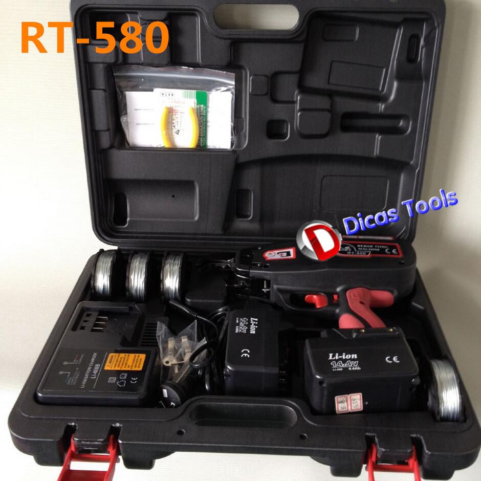 Portable cordless 14.4 Li-ion battery automatic rebar tying machine RT-580<br><br>Aliexpress