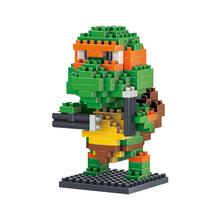 Michelangelo Ninja Turtles Diamond Building Blocks Heroes Fun Toys Model Cartoon Characters Anime Best Gift DIY Mini Blocks