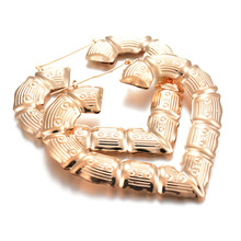 Europe and The Trend of The Nightclub Exaggerated Personality Big Ear Ring Hollow Bamboo Big Circle Earrings Adorn Article