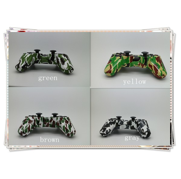 Hot sale 4 different kinds of New Style Camouflage wireless game controller for PS3 controller with sixaxis bluetooth controller(China (Mainland))