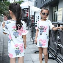Big little font b girls b font t shirts tops font b dresses b font summer