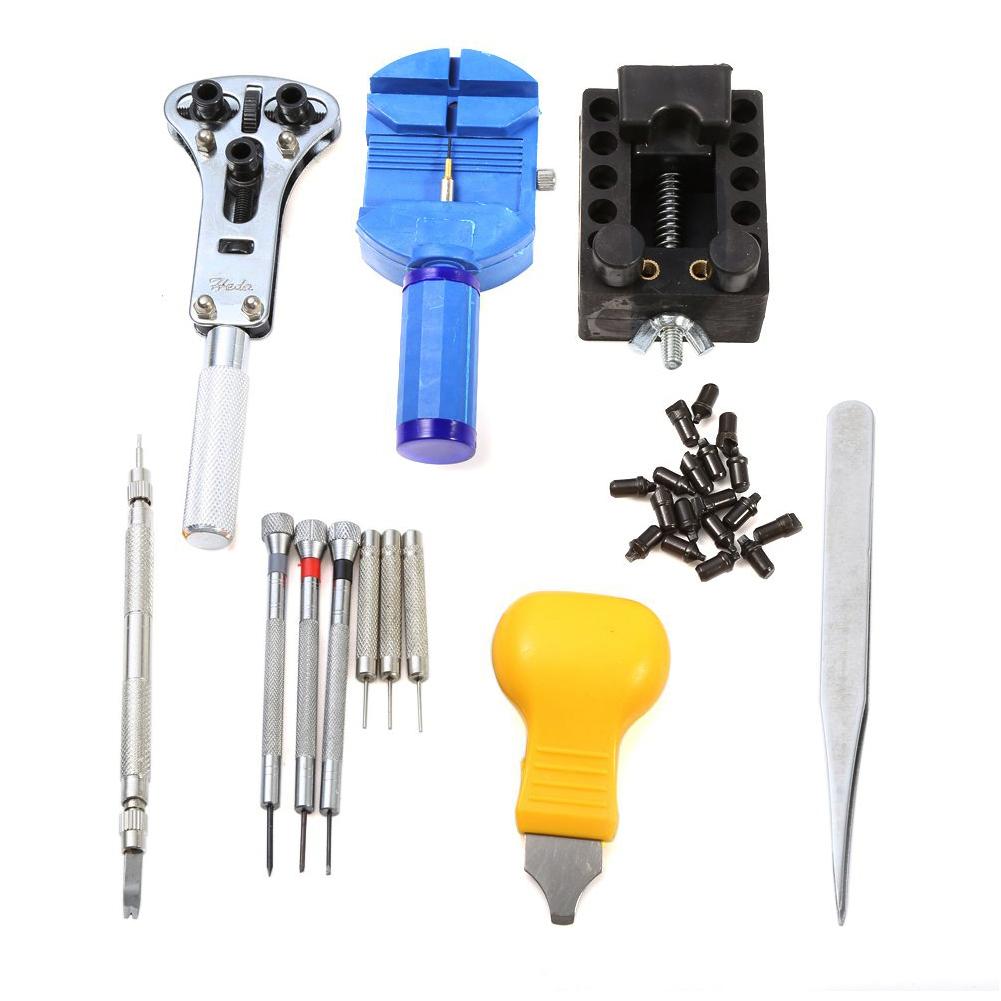 Brand New Watch Repair Tools 13pcs/lot watch repairing tool set kit case battery opener link pins remover screwdrivers(China (Mainland))