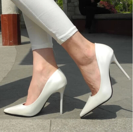 Womens White Shoes Heels Fs Heel