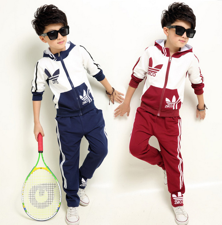 New Simple Luxury Korean Version Kids Clothing Set Fashion Casual Boys & Girls Tennis Two-piece Sportswear Vetement Enfant Fille(China (Mainland))