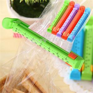5 pcs/Lot Fresh Food Seal Stick Storage Colored Plastic Bag Sealer Up For Food Flavoring Trash Pack(China (Mainland))