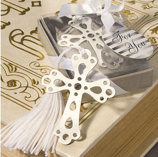 GAGA ! Creative stainless steel Silver Hollow Out Cross Bookmark/gift bookmark/Creative wedding gift,85pcs/lot, QQ-3-7(China (Mainland))