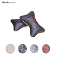 Karcle 1 Pair Car Neck Pillows PU Leather Car Covers Protect Neck Headrest Warm Auto Seat