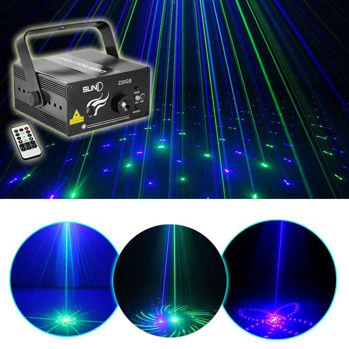 New Mini 20 Big GB Green Blue Laser Consistent Projector Lights 3W Blue LED Mixing Effect PRO DJ Show Stage Lighting AZ20GB(China (Mainland))