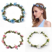Buy Bridesmaid Flower Wreath Artificial Flower Head Wreath Hair Floral headband Hair accessories Flower Headpiece Flower crown for $1.29 in AliExpress store